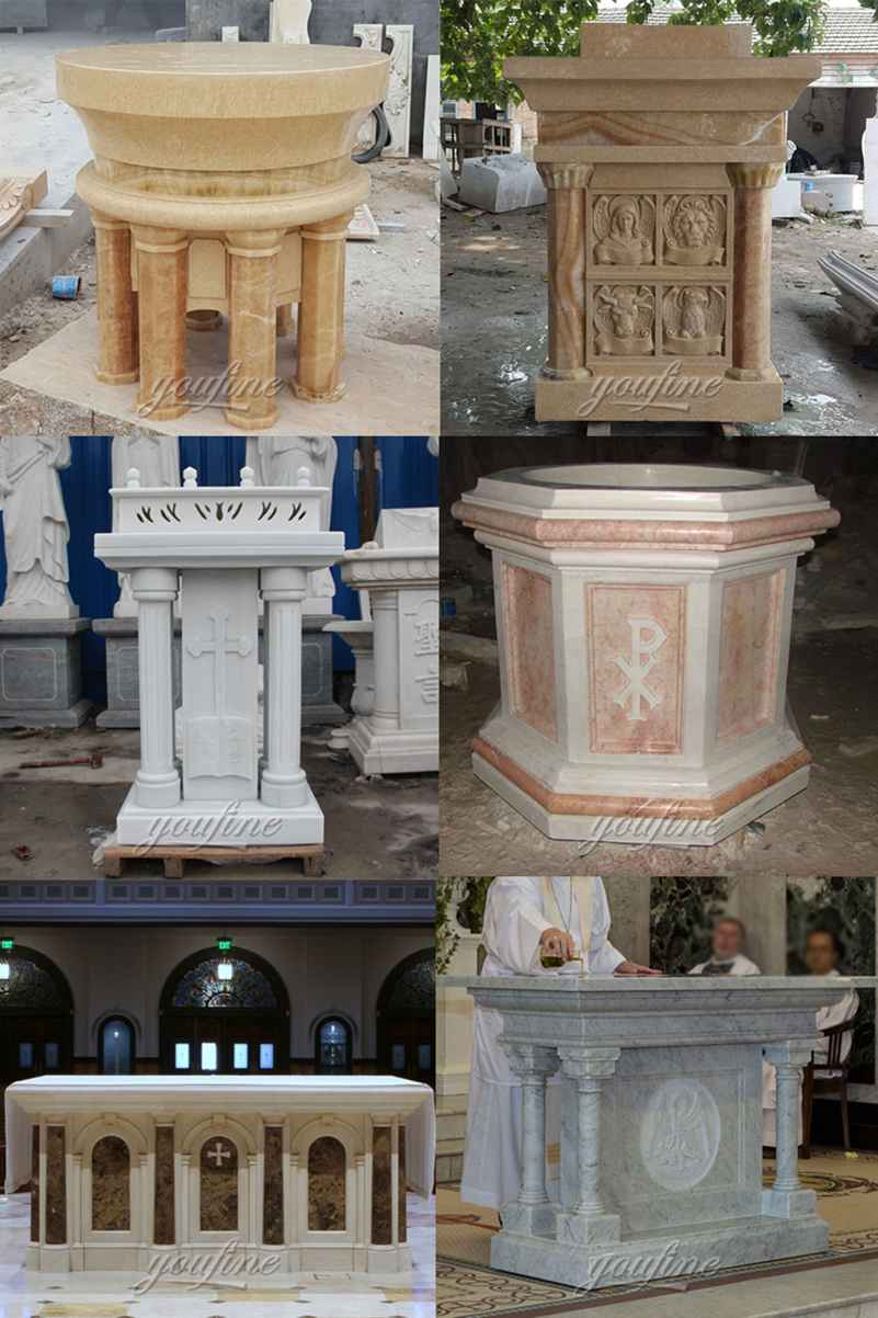 Life Size White Marble Pulpit for Church Supplier