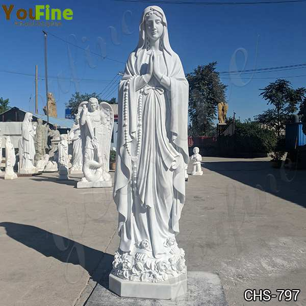 Catholic Donation Life Size Our Lady of Lourdes Marble Statue Suppliers CHS-797