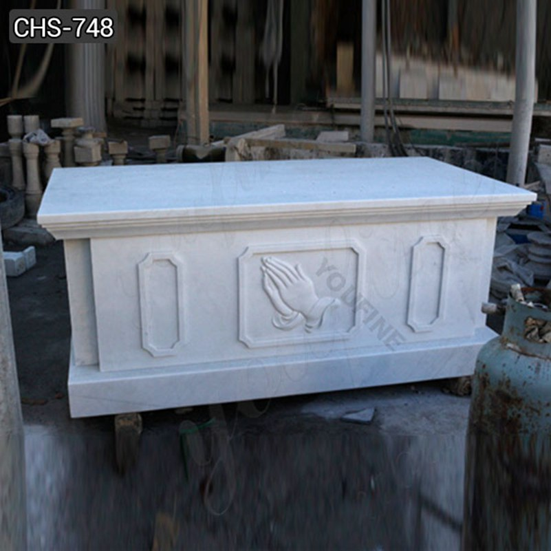 Hand Carved Church White Marble Altar with Hands Suppliers CHS-748