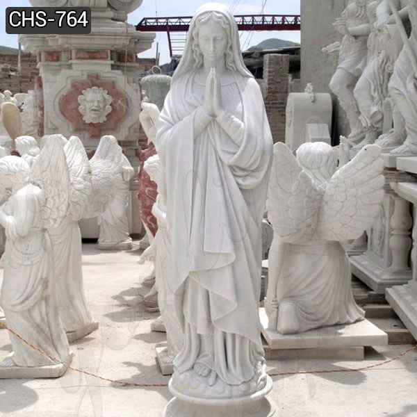 Life Size Blessed Virgin Mary Marble Statue Suppliers CHS-764