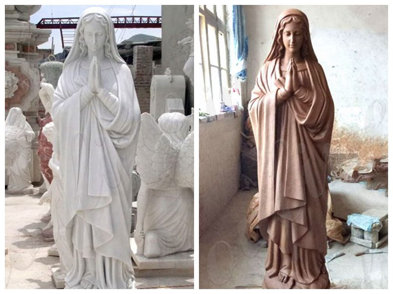 Life Size Blessed Virgin Mary Marble Statue