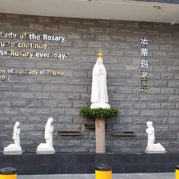 Life Size Marble Our Lady of Fatima with Children Statue for Sale CHS-712