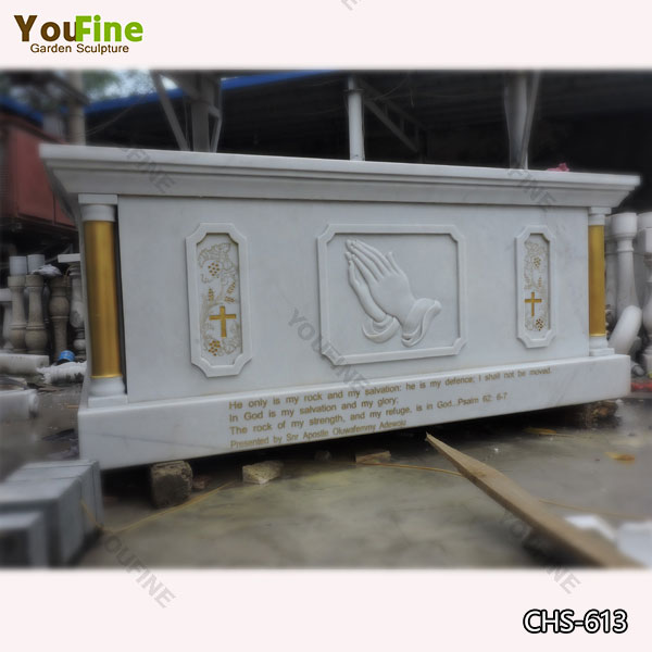 Custom Made Catholic Marble Religious Altar Table for Sale CHS-613