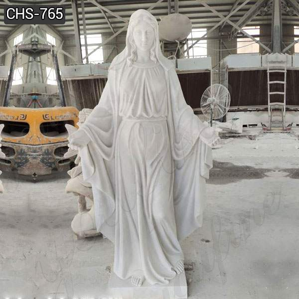Life Size White Marble Our Lady of Grace Statue for Sale CHS-765