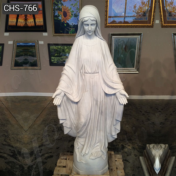 Custom Natural Marble Blessed Virgin Mary Statue Suppliers CHS-766
