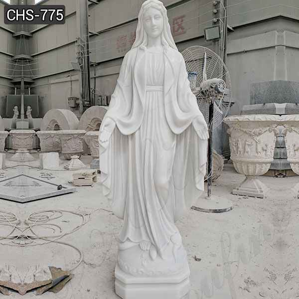 Catholic White Marble Blessed Virgin Mary Statues Suppliers CHS-775