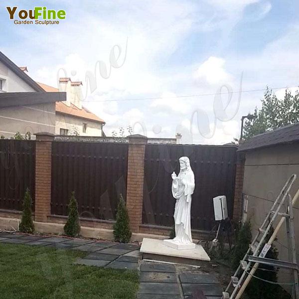 Life Size White Marble Jesus Statue - Good Feedback from Ukraine Customer