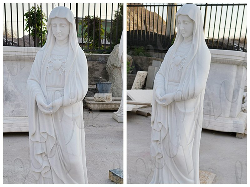 Catholic Marble Virgin Mary Statue for Garden for Sale