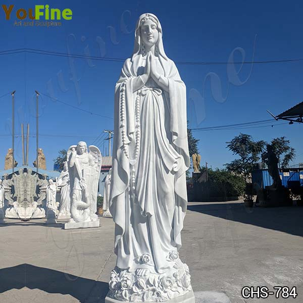 Hot Selling Natural Marble Our Lady of Lourdes Statue Factory Direct CHS-784