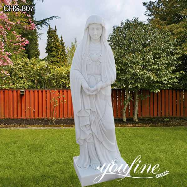 Life Size Catholic Marble Virgin Mary Statue for Garden for Sale