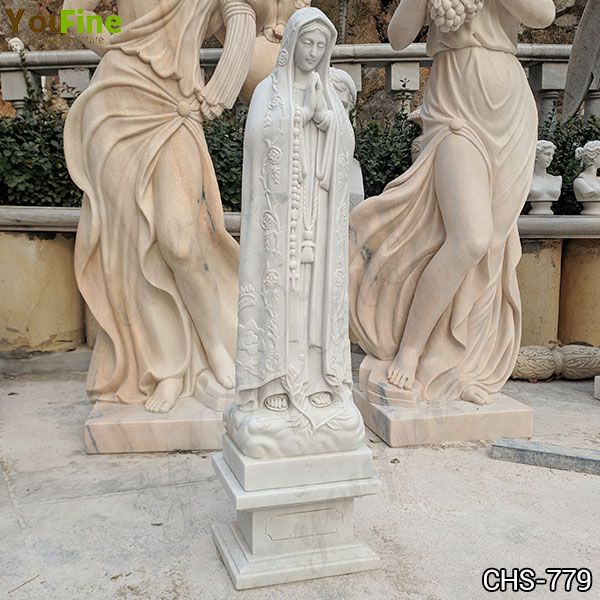 Life Size Catholic Natural White Marble Fatima Statue Suppliers CHS-779