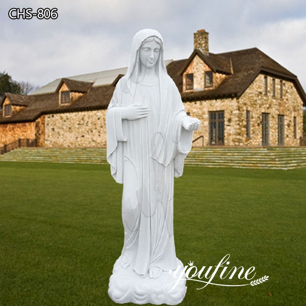 Catholic Hand Carved Outdoor Marble Virgin Mary Statue Suppliers