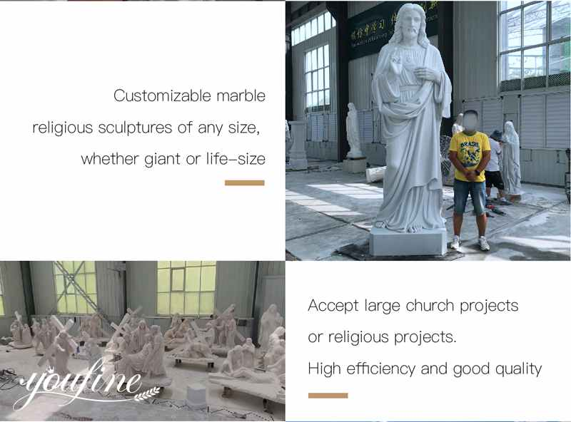 Jesus and Lamb Marble Statue process