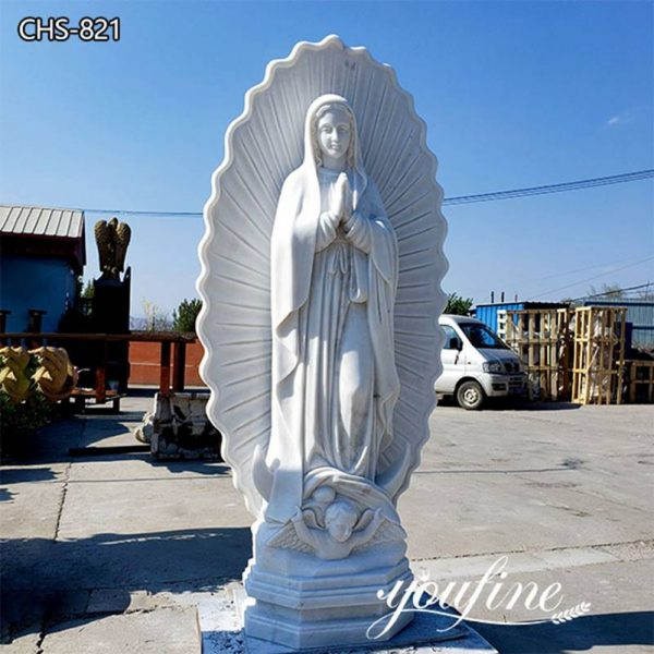 Catholic Statue Marble Our Lady of Guadalupe Statue for Sale