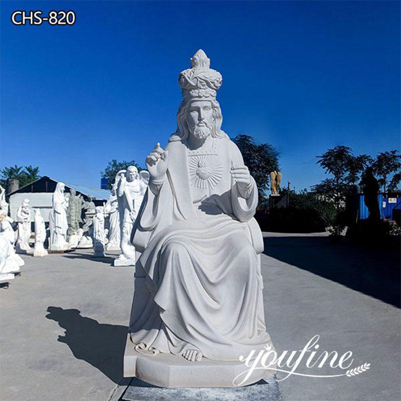 Catholic White Marble Life Size Jesus Christ statue for Slae CHS-820