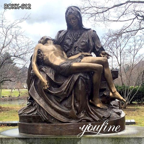 Famous Catholic Bronze Pieta Statue by Michelangelo for Sale
